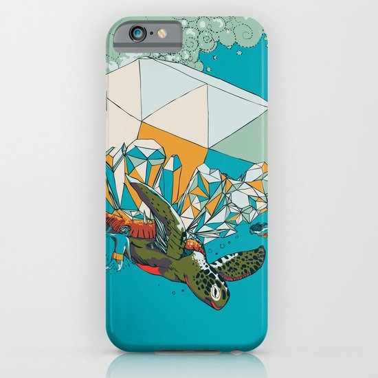 TURTLE& THE DIAMONDS iPhone & iPod Case