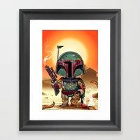 Boba Fett On Tatooine Framed Art Print