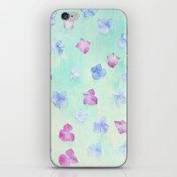 hydrangea petals iPhone & iPod Skin
