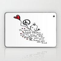 Love & Peace Bird Laptop & iPad Skin