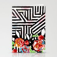 Mountains And Flowers Stationery Cards