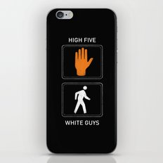 High Five White Guys iPhone & iPod Skin