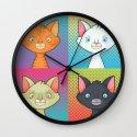Pop Cats Wall Clock