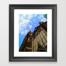 Up to the Clouds Framed Art Print