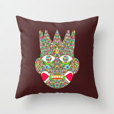 The Psychedelic Daemon Throw Pillow