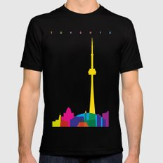 Shapes of Toronto. Accurate to scale SMALL Mens Fitted Tee Black