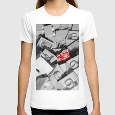 Red Brick Womens Fitted Tee White SMALL