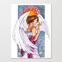 Giovanna - Art Nouveau Angel Canvas Print