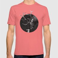 Elk And Rabbit Mens Fitted Tee Pomegranate SMALL