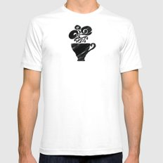 Black Tea SMALL Mens Fitted Tee White