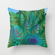 3D seashells artwork Throw Pillow