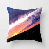 Swedish midsummer sky Throw Pillow