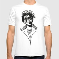 It's In The Eyes Chico Mens Fitted Tee White SMALL