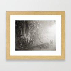 River mist Framed Art Print