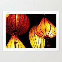 Neon Lanterns Art Print