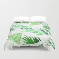 Leaf tropical pattern  Duvet Cover