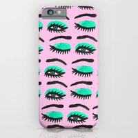 iPhone & iPod Case featuring Wink by Bouffants and Broken Hearts