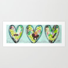 Do small things with great love. Art Print