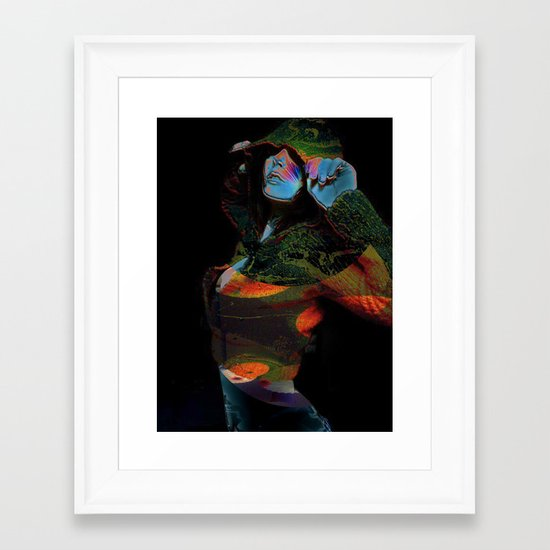 Hooded Woman 2 Framed Art Print