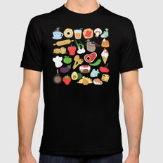 Cute food Black SMALL Mens Fitted Tee