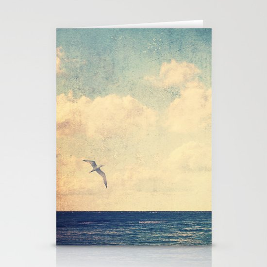 Blue Stationery Card