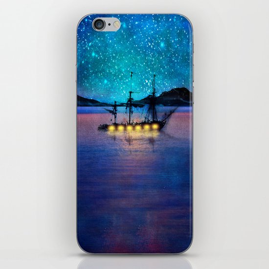 Ship in the lights iPhone & iPod Skin