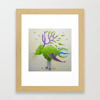 The deer-sheep Framed Art Print