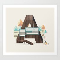 Resort type - Letter A Art Print