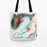 Coy Fish (Yin & Yang) Tote Bag