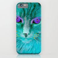 iPhone & iPod Case featuring Adorned Cat by Cat Kitsch