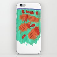 Traces on a grass... iPhone & iPod Skin