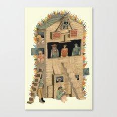 Burning Club House Canvas Print