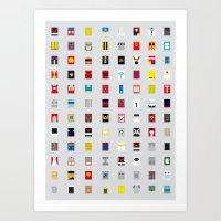 Minimalism Robots (Good … Art Print