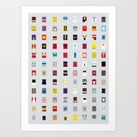 Minimalism Robots (Good … Art Print