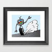 TVbot Framed Art Print