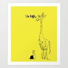 High Giraffe Art Print