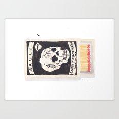 Skull Matchbox  Art Print