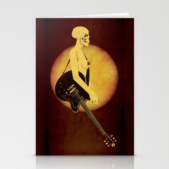 Skull Of Rock Stationery Card