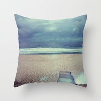 Tura Beach, Polaroid Throw Pillow