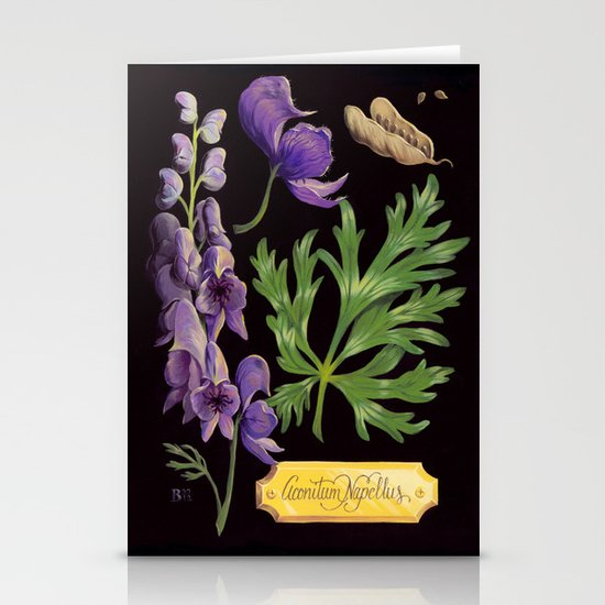 Wolfsbane Stationery Card