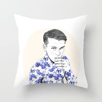 Inked #5 Throw Pillow