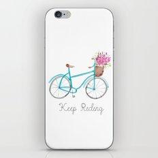 Keep Riding Bike, Watercolor Bike iPhone & iPod Skin