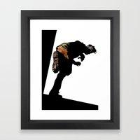 RUN ZOMBIE RUN! Framed Art Print