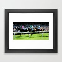 Trifecta- Day At The Dow… Framed Art Print