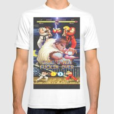 GAME'S NOT FUCKIN OVER! pt. 1 White SMALL Mens Fitted Tee