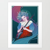 Our Lady of Rock Art Print