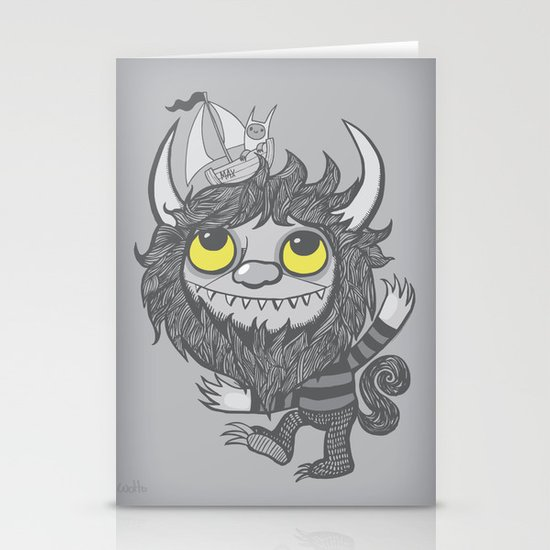 My Moishe (Grayscale) Stationery Card