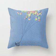 The Lightest Elephant Throw Pillow