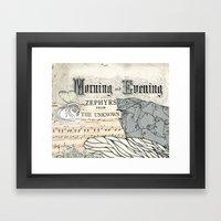 Morning And Evening Framed Art Print