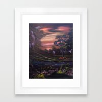 Heavenly Cascades Framed Art Print